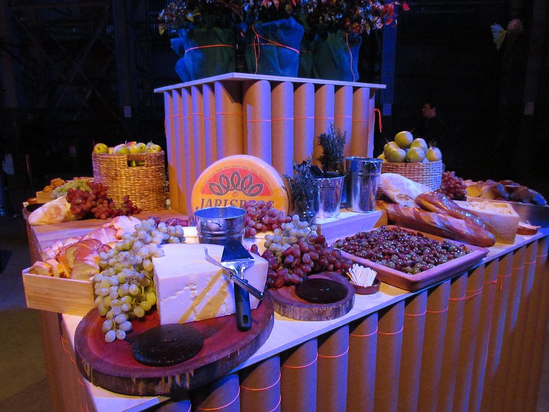 Biennale of Sydney opening party cheese station design