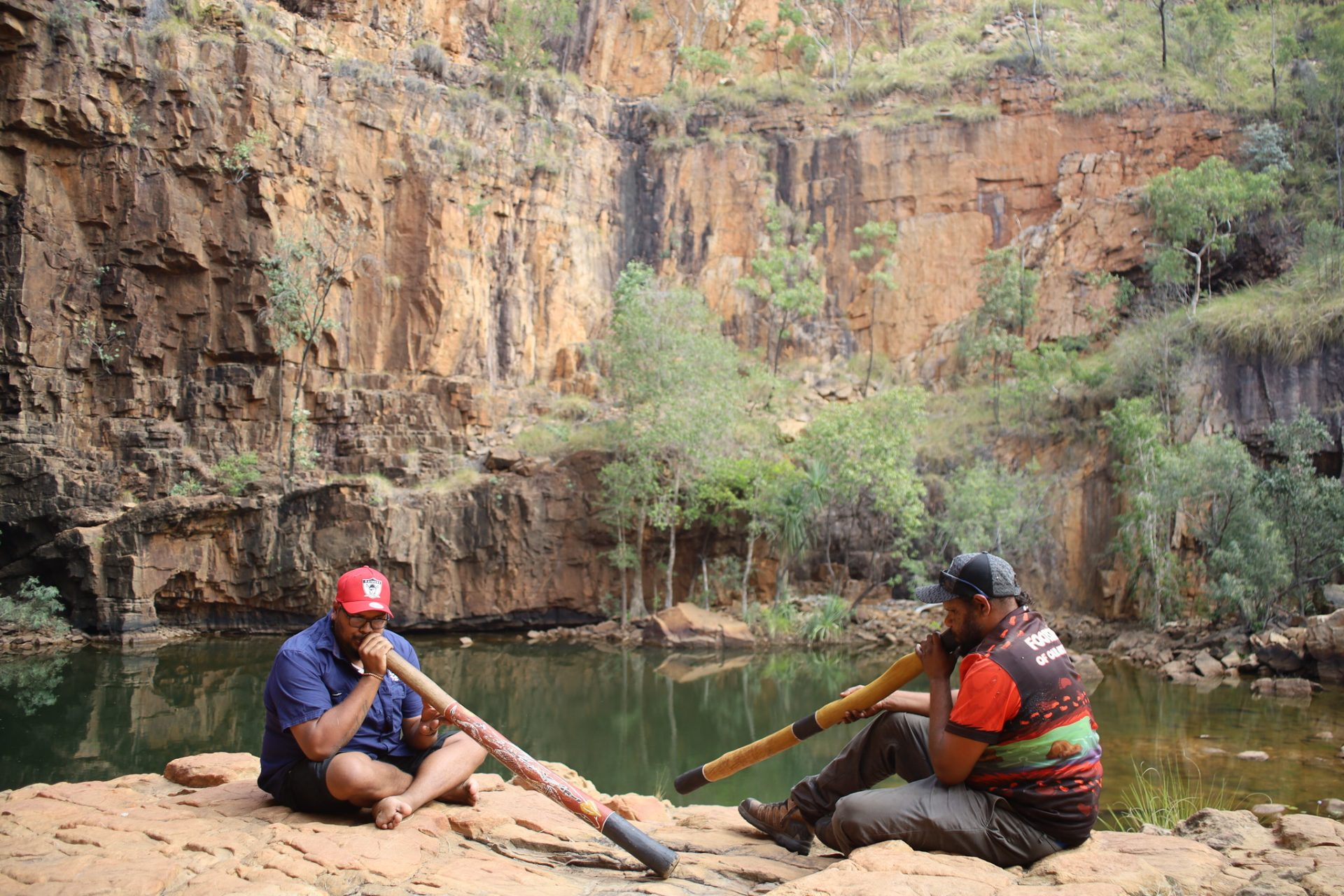 Learning skills from the indigenous locals at Katherine Gorge