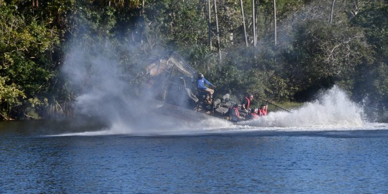 Thrills and spills of airboats in the northern territory