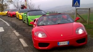 Sports car excursion around the countryside for incentive winners